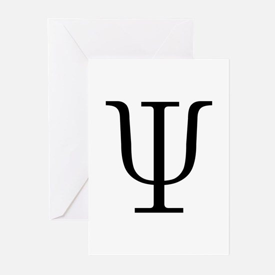 Greek 23rd Letter Psi Greeting Cards (Pk of 10