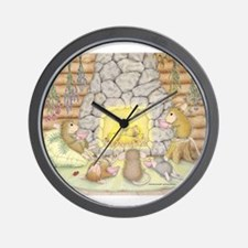 Quiet Evening with Friends Wall Clock