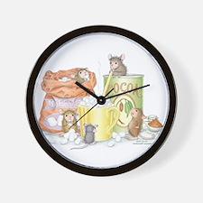 Hot Cocoa Social Wall Clock