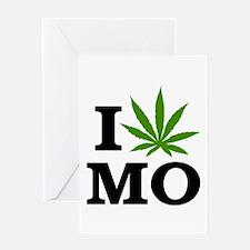 I Love Cannabis Missouri Greeting Card