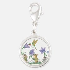 A Spring Tail Silver Round Charm