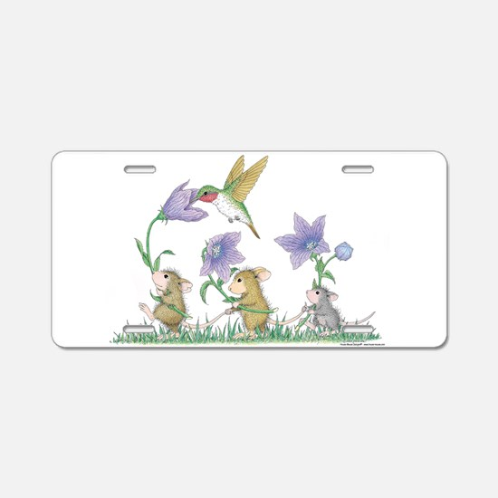 A Spring Tail Aluminum License Plate