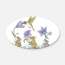 A Spring Tail Oval Car Magnet