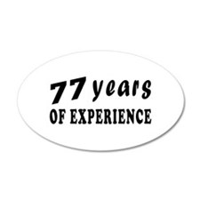 77 years birthday designs Wall Decal
