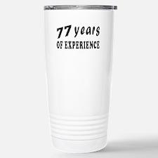 77 years birthday designs Travel Mug