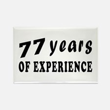 77 years birthday designs Rectangle Magnet