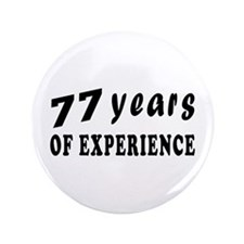 "77 years birthday designs 3.5"" Button (100 pack)"