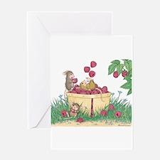 Juggling Raspberries Greeting Card