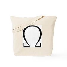 Greek Omega Symbol Tote Bag