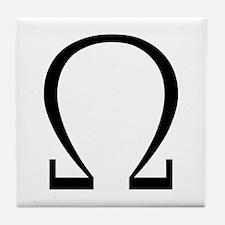Greek Omega Symbol Tile Coaster