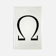 Greek Omega Symbol Rectangle Magnet