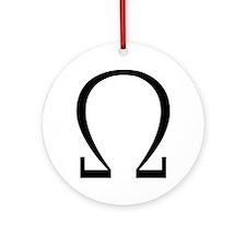 Greek Omega Symbol Ornament (Round)