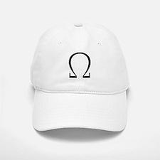 Greek Omega Symbol Baseball Baseball Cap