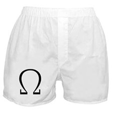 Greek Omega Symbol Boxer Shorts