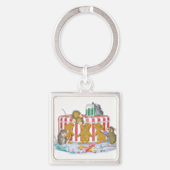 Ginger-Mouse Bakery Square Keychain