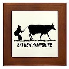 The Ski New Hampshire Shop Framed Tile