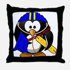 Life Saver Penguin Throw Pillow