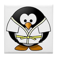 Judo Penguin Tile Coaster
