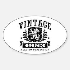 Vintage 1953 Sticker (Oval)