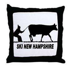 The Ski New Hampshire Shop Throw Pillow
