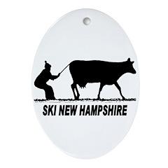 The Ski New Hampshire Shop Oval Ornament