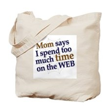 on the web Tote Bag