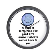 A smile is something you can' Wall Clock