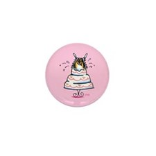 Tricolor Pomeranian Cake Mini Button (100 pack)