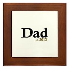 Dad Est 2013 Framed Tile