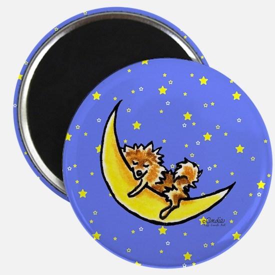 Pomeranian Moon Magnet