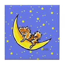 Pomeranian Moon Tile Coaster