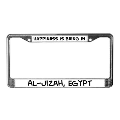Happiness is Al-Jizah License Plate Frame