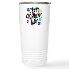 Crazy Coonhound Lady Travel Mug
