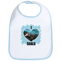 I LOVE SEALS Bib