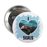 I LOVE SEALS Button