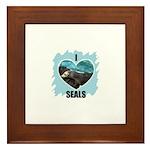 I LOVE SEALS Framed Tile