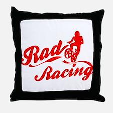 Rad Racing Throw Pillow