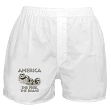 America - The Free, The Brave Boxer Shorts