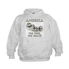 America - The Free, The Brave Hoodie