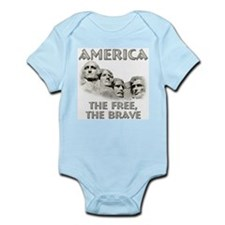 America - The Free, The Brave Infant Bodysuit