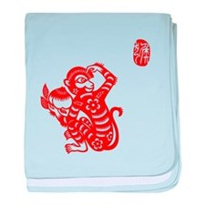 Asian Monkey - Baby Blanket