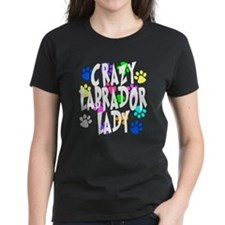 Crazy Labrador Lady Tee