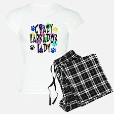 Crazy Labrador Lady Pajamas