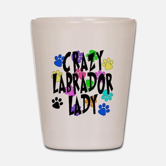 Crazy Labrador Lady Shot Glass