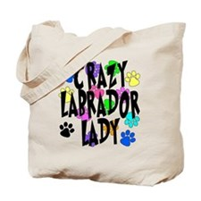 Crazy Labrador Lady Tote Bag