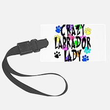 Crazy Labrador Lady Luggage Tag