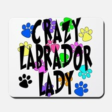 Crazy Labrador Lady Mousepad