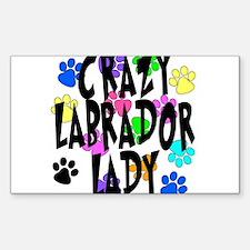 Crazy Labrador Lady Decal