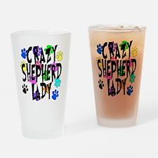 Crazy Shepherd Lady Drinking Glass