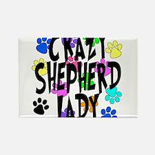 Crazy Shepherd Lady Rectangle Magnet